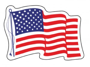 free american flag decal by mail