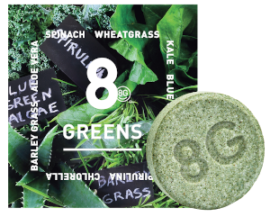 free sample of 8Greens Effervescent tablet